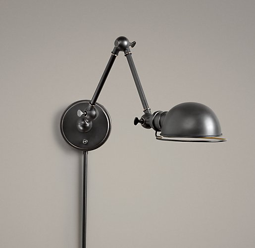 academy task swing arm sconce oil rubbed bronze. Black Bedroom Furniture Sets. Home Design Ideas