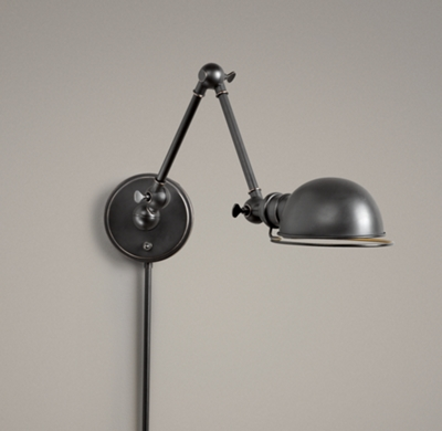 Academy Task Swing Arm Sconce Oil Rubbed Bronze