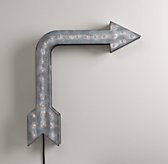 Vintage Illuminated Arrow Weathered Metal