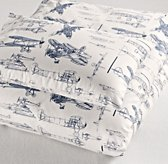 Vintage Airplane Blueprint Toddler Duvet Cover