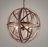 Orbital Sphere Small Pendant - Rust