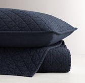 Washed Diamond-Stitched Quilted Sham