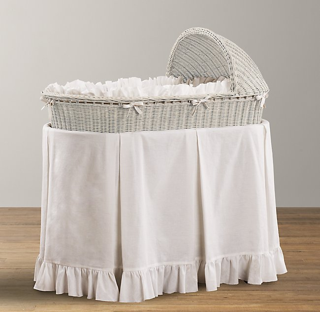 frayed ruffle bassinet bedding - Bassinet Bedding