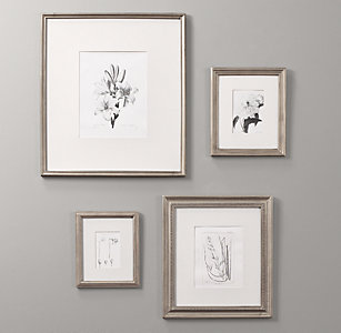 antiqued pewter wood frames - White Wood Picture Frames