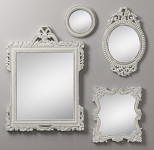 Vintage Hand Carved Mirrors