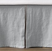 Washed Linen Sailboat Solid Crib Skirt