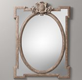Juliette Large Dresser Mirror - Antique Grey Linen
