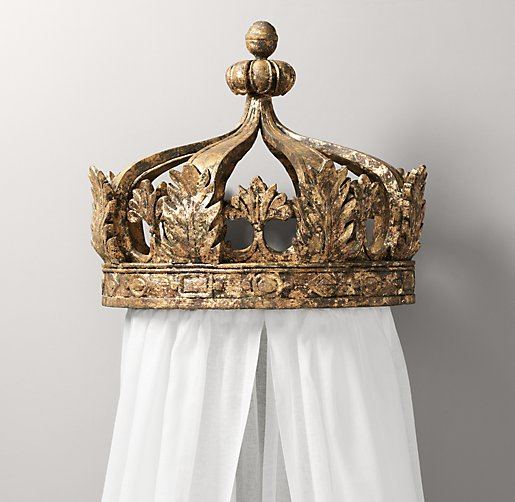 Bed Crown Canopy Crib Crown Nursery Design Wall Decor: Gilt Canopy Bed Crown