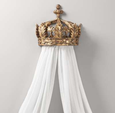 Gilt Demilune Canopy Bed Crown