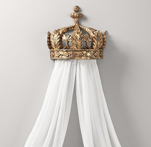 - Gilt Demilune Canopy Bed Crown