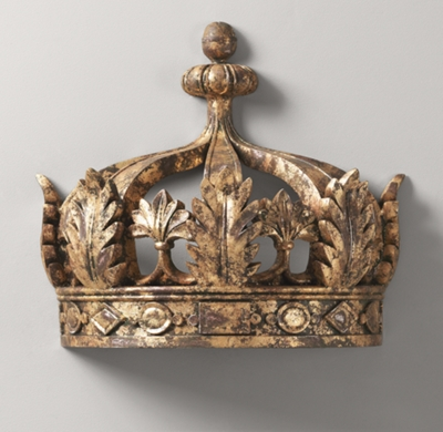 & Gilt Demilune Canopy Bed Crown