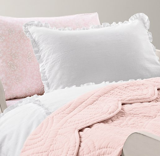 european vintage washed ruffle european fleur toddler bedding collection - Toddler Girl Bedding