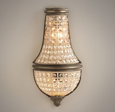 French Crystal Wall Sconces : French Regency Small Crystal Sconce