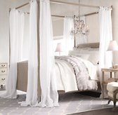 Sheer Belgian Linen Bed Canopy Panels (Set of 2)