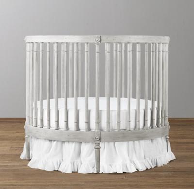- Ellery Round Crib & Mattress