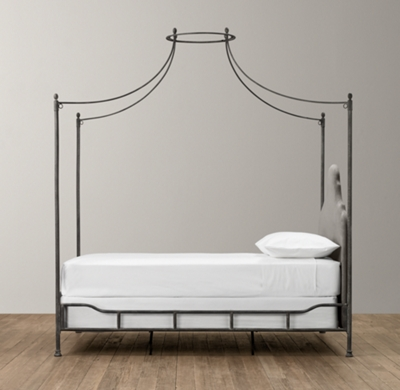 Iron Four Poster Bed allegra iron canopy bed