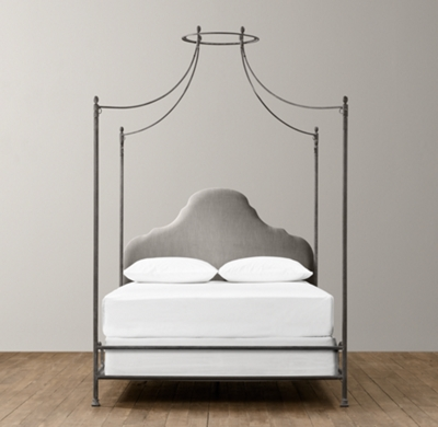allegra iron canopy bed
