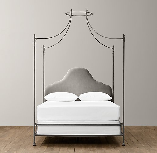 Allegra Iron Canopy Bed Fog Vintage Velvet Interiors Inside Ideas Interiors design about Everything [magnanprojects.com]