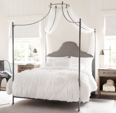 allegra iron canopy bed - Iron Canopy Bed Frame