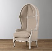 Mini Versailles Upholstered Chair - Aged White