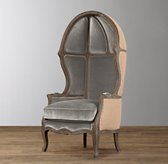 Mini Versailles Velvet Chair - Burnt Oak