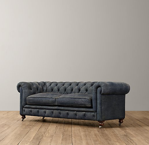 Mini Kensington Denim Sofa