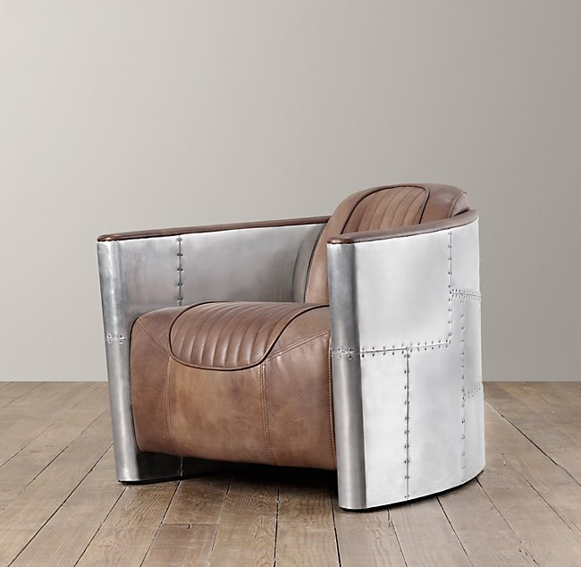 chestnut club en vintage chair aviator armchaira saulaie armchair