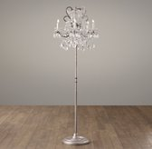 Manor Court Crystal 5-Arm Floor Lamp Aged Pewter