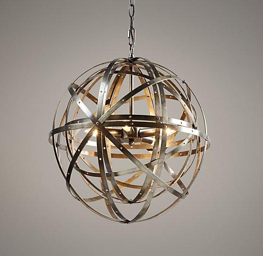 Hanging Light Spheres: Orbital Sphere Small Pendant