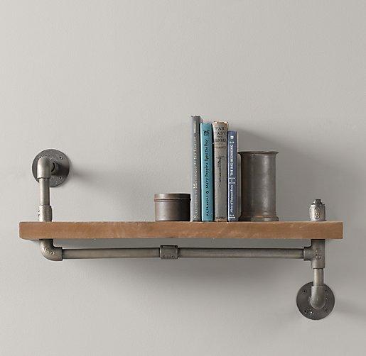 Industrial Single Pipe Shelf