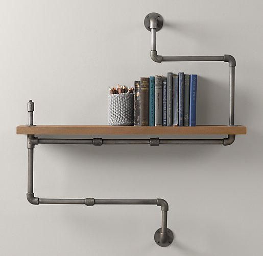 color preview unavailable industrial double pipe shelf