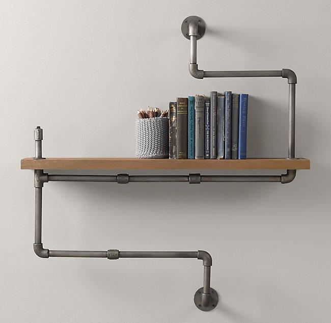 Industrial Double Pipe Shelf