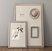 Antiqued Pewter Wood Pinboard