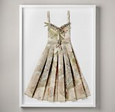 Hand-Folded Vintage Map Dress