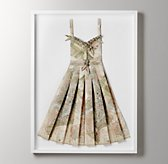 Hand-Folded Vintage Map Dress - Roma Fleur