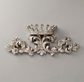 Small Pewter Wall Crown