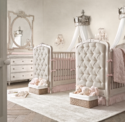& Pewter Demilune Canopy Bed Crown