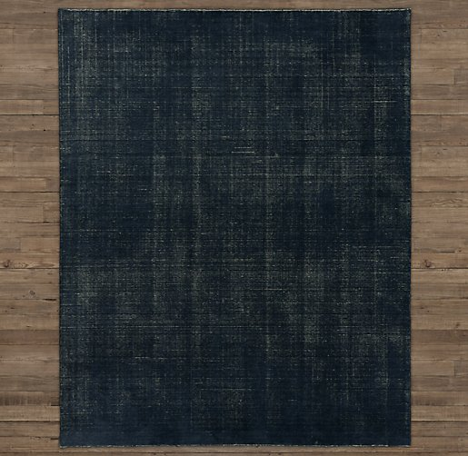 Vintage Effect Rug: Distressed Wool Rug