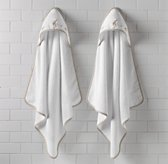 Embroidered Safari Hooded Towel - Newborn