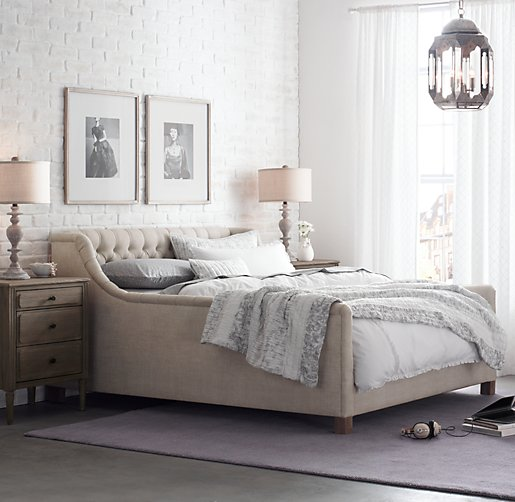 devyn tufted bed weathered oak