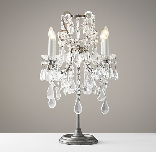 manor court crystal table lamp aged pewter. Black Bedroom Furniture Sets. Home Design Ideas