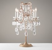 Manor Court Crystal Table Lamp - Aged Gold