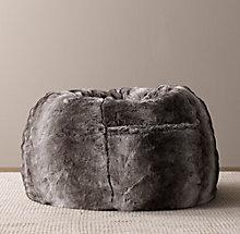 651f786053 Luxe Faux Fur Bean Bag - Wolf