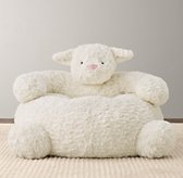 Textured Plush Lamb Chair