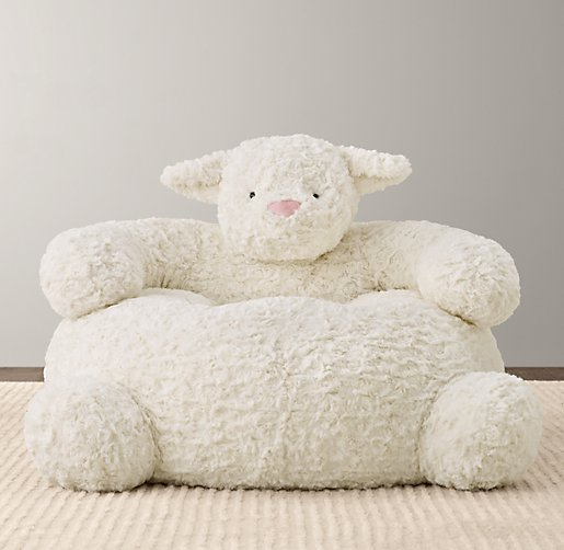 Textured Plush Lamb Chair