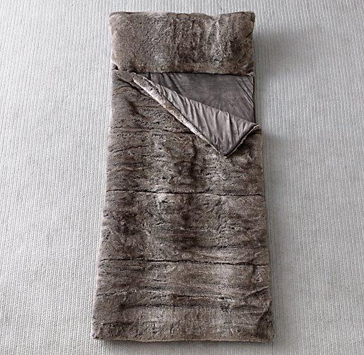 Luxe Faux Fur Sleeping Bag Wolf