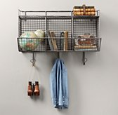 Industrial Wire 3-Bin Shelf - Zinc