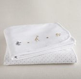 Embroidered Safari Blanket Set of 2