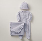 Ruffled Velour 3-Piece Infant Set - Lilac