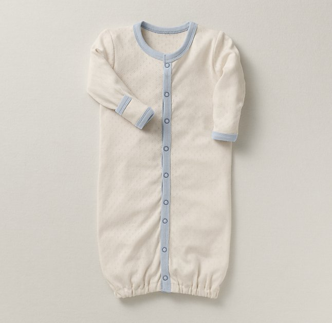 Organic Jersey Layette Newborn Gown